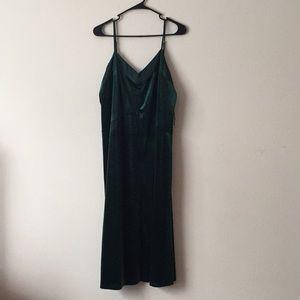 Dark Green Velvet Dress Size L